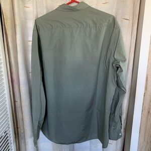 H&M Shirts - H&M LOGG Olive Green Dress Shirt Regular Fit EUC